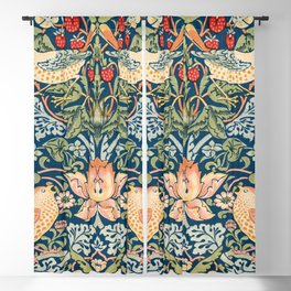 William Morris The strawberry thieves pattern  1883 Blackout Curtain