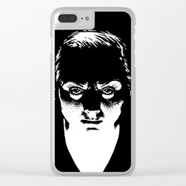 Scary Lady drawing by Woody Compton Clear iPhone Case