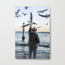 Old Sea Sunset Metal Print