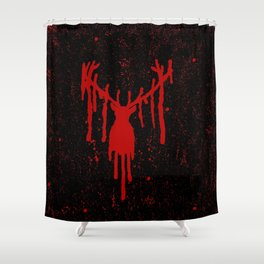 Red Stag Head #2 Shower Curtain