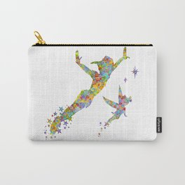 Peter Pan and Tinker Bell Watercolor Carry-All Pouch