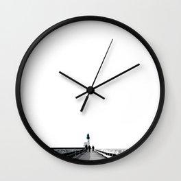 Green Lighthouse Wall Clock