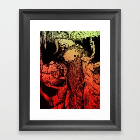 Necromance with Me Framed Art Print