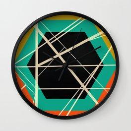 Crossroads - color hexagon Wall Clock