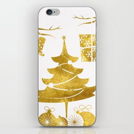 Gold Christmas 03 iPhone Skin