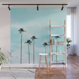 Palm Tree Photography | Turquoise Sky Wall Mural