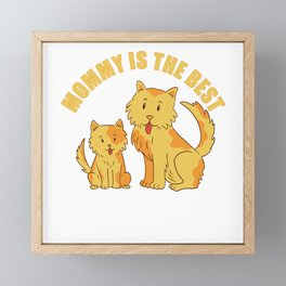 Mommy is the Best Dog Family Framed Mini Art Print