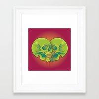 skulls Framed Art Prints featuring Skulls by kellyhalloran