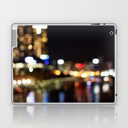 Light Art | Melbourne city (Yarra River) Laptop & iPad Skin