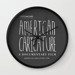 American Caricature Logo Wall Clock