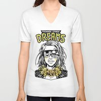 cyberpunk V-neck T-shirts featuring TEENAGE SPACE DREAMS by Lokhaan