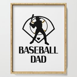 Baseball And Dad Funny Fathers Day Gift Serving Tray