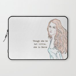 Though she be but little, she is fierce Laptop Sleeve