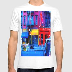 Primary Colors White Mens Fitted Tee MEDIUM