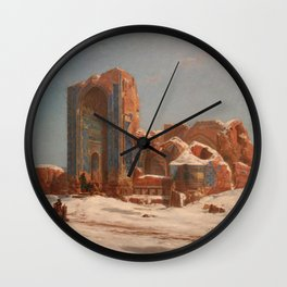 Jules Laurens - The Blue Mosquee in Tabriz, Persia Wall Clock