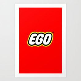 Lego - Ego Art Print