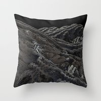 dark side of the moon Throw Pillows featuring Dark Side of the Moon by Lyle Hatch