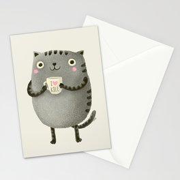 I♥kill (brown) Stationery Cards
