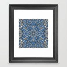 Snowflake Blue Framed Art Print