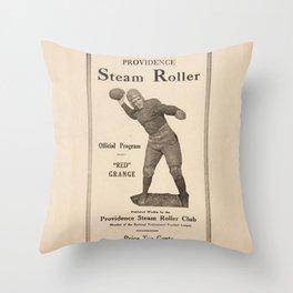 1927 Providence Steam Roller vs. Red Grange's NY Football Team Advertising Poster Throw Pillow