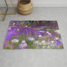 Water Lilies - Claude Monet (proton purple) Rug