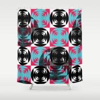 disco Shower Curtains featuring Disco Pattern by Negin Khatoun