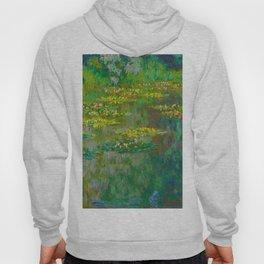 Claude Monet Impressionist Landscape Oil Painting Le Bassin des Nympheas Hoody