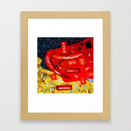 hearts capsize Framed Art Print