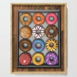 Box of Doughnuts Serving Tray