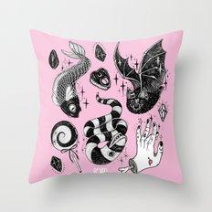 Pink Magic Throw Pillow