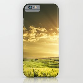 dusk in val d'orcia iPhone Case