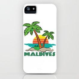 Maldives - Summer Beach Vacation Travel Destination Gift iPhone Case