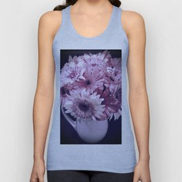 Lavender Bouquet in a Ceramic Pitcher Unisex Tank Top