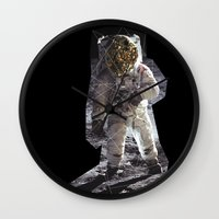 geode Wall Clocks featuring Geode Face IV by hunnydoll
