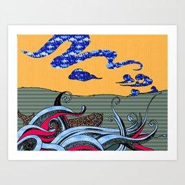 Whale Naked Art Print