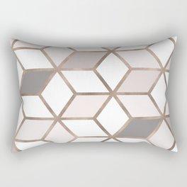 Golden Cubes I Rectangular Pillow