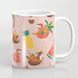 Hot Santa on vacation Coffee Mug