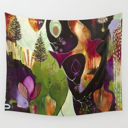 """Deep Peace"" Original Painting by Flora Bowley Wall Tapestry"