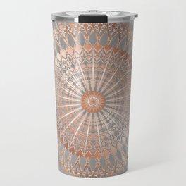Rose Gold Gray Mandala Travel Mug