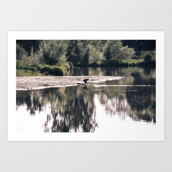 Lake Somewhere Art Print