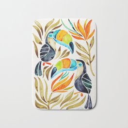 Tropical Toucans – Sepia Palette Bath Mat
