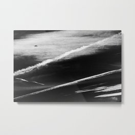Ufo And Chemical Trails Metal Print