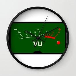 Audio VU Meter Wall Clock