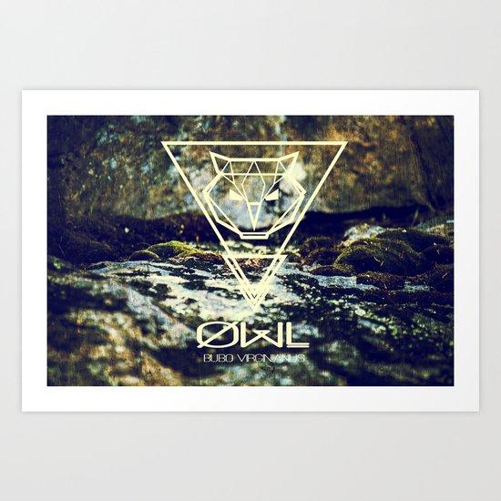 Geo-Owl Art Print