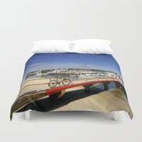 bicycle Duvet Covers featuring Bicycle  by Chris' Landscape Images & Designs