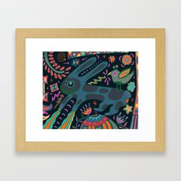 Jumping Rabbit Framed Art Print