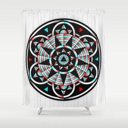 Dark Mandala Equality Shower Curtain