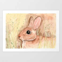 brown hare painting Art Print