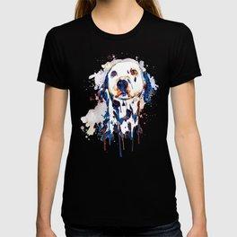 Dalmatian Head Watercolor Portrait T-shirt