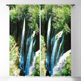 lower lake waterfall plitvice lakes national park croatia agfa Blackout Curtain